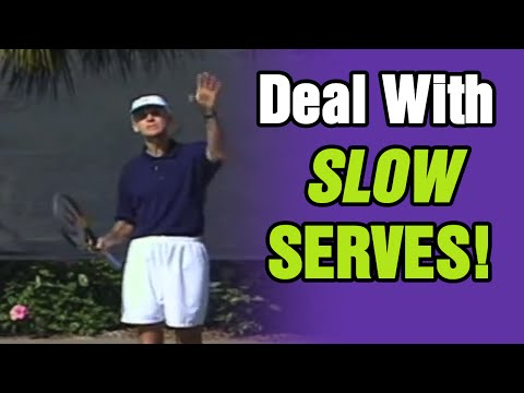 Tennis - How To Deal With Slow Serves And Sitters | Tom Avery Tennis 239.592.5920