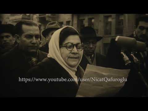 Natəvanın heykəlinin açılışı - Bakı - 1960