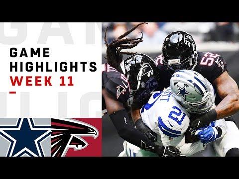 Cowboys vs. Falcons Week 11 Highlights | NFL 2018