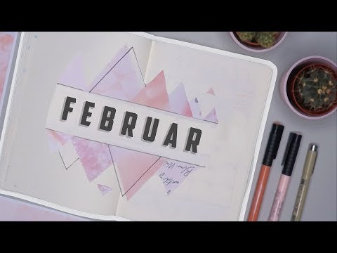 Bullet Journal FEBRUAR 2019! pastel triangle theme | Mina Jacobsen (A)