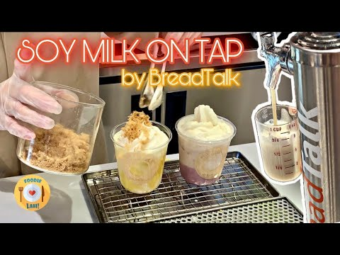 Cafe Vlog / Soy Milk on Tap from BreadTalk Bakery Singapore