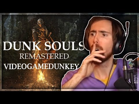Asmongold Reacts to 'Dunk Souls' and 'Dunk Souls Remastered' by Videogamedunkey