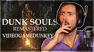 "Asmongold Reacts to ""Dunk Souls"" and ""Dunk Souls Remastered"" by Videogamedunkey"