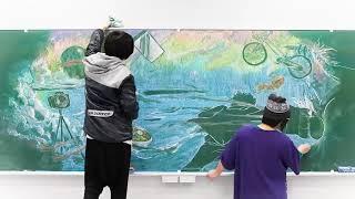【公式】配信ボーイ「黒板アート動画」~主題歌lol「ワスレナイ」バージ...