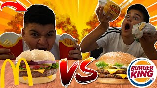🍔MC DONALDS VS BURGER KING CHALLENGE MIT ADAM!😋| Can Wick