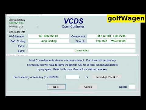 VW Engine 1.6 TDI Options For Engine On VCDS-VAG