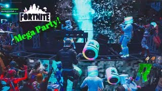 Fortnite Full Event party DJ Marshmello 2019