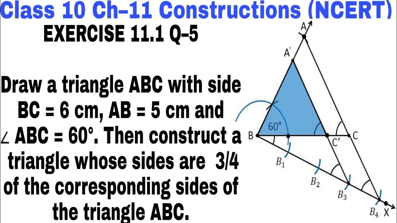 Download Ch 11 Ex 11.1 Q 5 class 10 || Construction ||  NCERT Mathematics ||