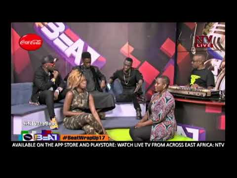 Cindy, Eddy Kenzo, Angella Kalule and Apass on NTV the Beat Wrap up 2017
