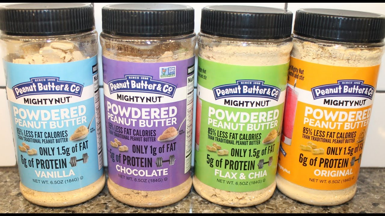 Peanut Butter & Co: Original, Vanilla, Chocolate, Flax & Chia Powdered  Peanut Butter Review