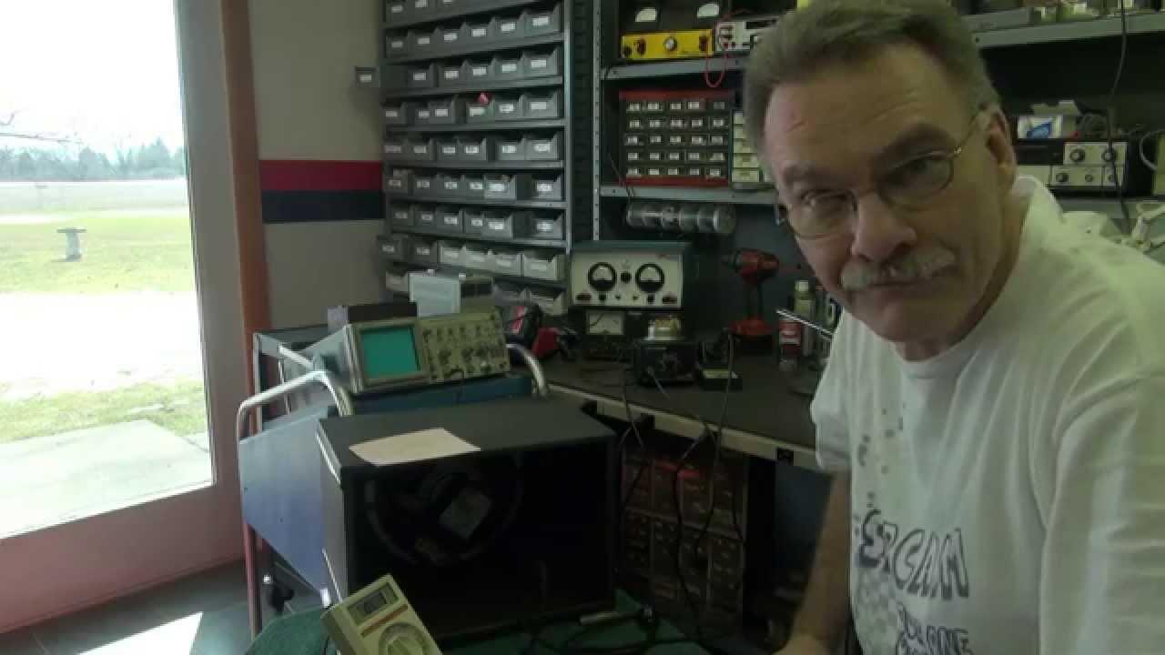 National NC 2-40D Tube Shortwave Receiver Speaker Test demo Ham Radio