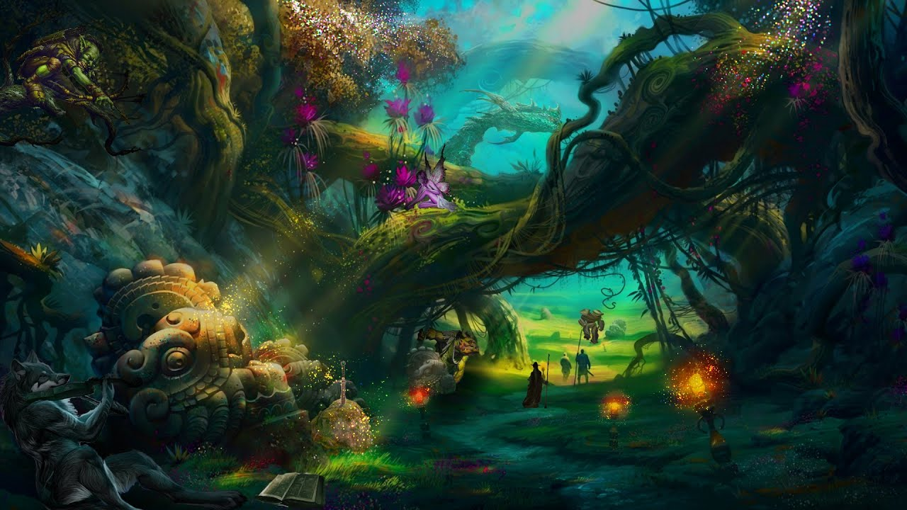 Fantasy Houses Magic Forest Speed Art By Z4ax Youtube