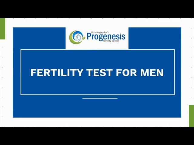 Fertility Test For Men