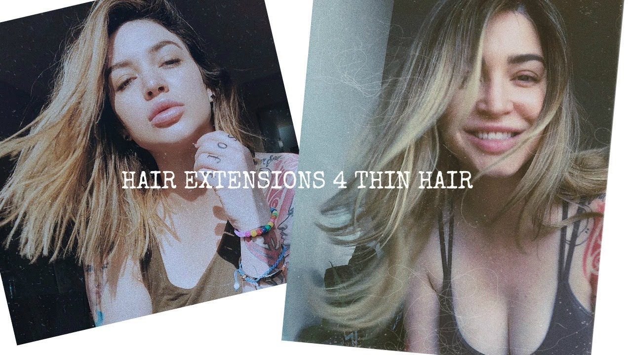 Clip In Hair Extensions For Thin Hair Youtube