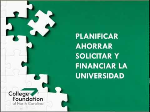 CFNC: Planificar Ahorrar Solicitar y Financiar la Universidad