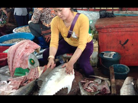 Seafoods market at Sihanoukville
