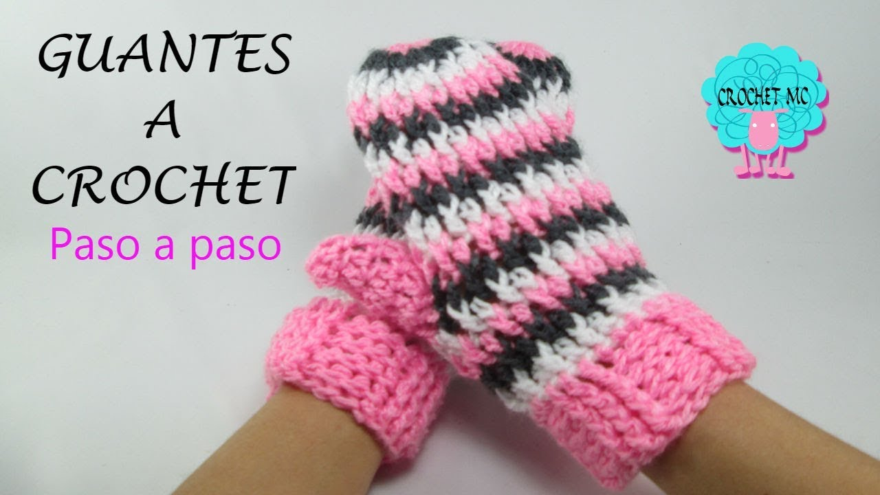 Tutorial Guantes un solo dedo a crochet - YouTube