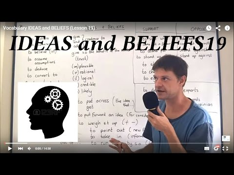 Vocabulary IDEAS and BELIEFS (Lesson 19)
