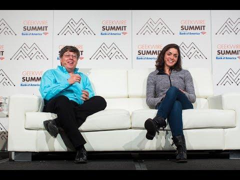 AI experts Oren Etzioni and Shivon Zilis at the 2016 GeekWire Summit