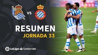 Resumen de Real Sociedad vs RCD Espanyol (2-1)