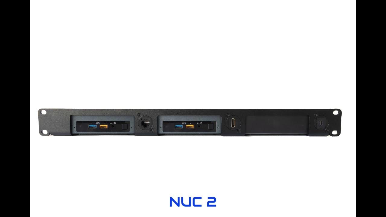 mounting 1 2 or 3 nucs in a 1u 19 inch nuc rack mount