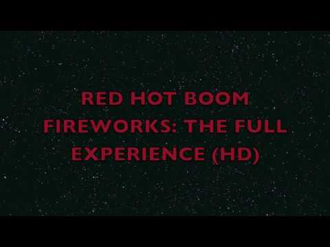 Red Hot Boom Fireworks 4th of July With Patriotic Music HD