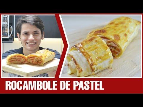 ROCAMBOLE DE MASSA DE PASTEL | Receita