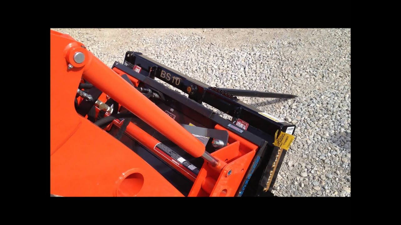 Front Loader Hydraulic Quick Attach Coupler - YouTube