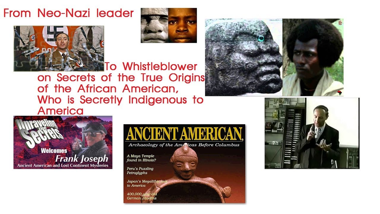 True Origin of the African American REVEALED by Caucasian Whistleblower Frank Joseph