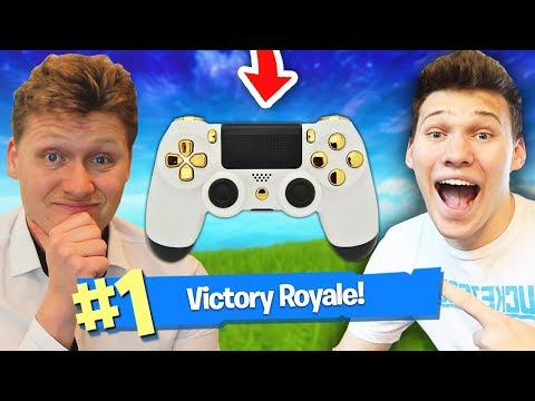 2 PLAYERS 1 CONTROLLER CHALLENGE in Fortnite Battle Royale