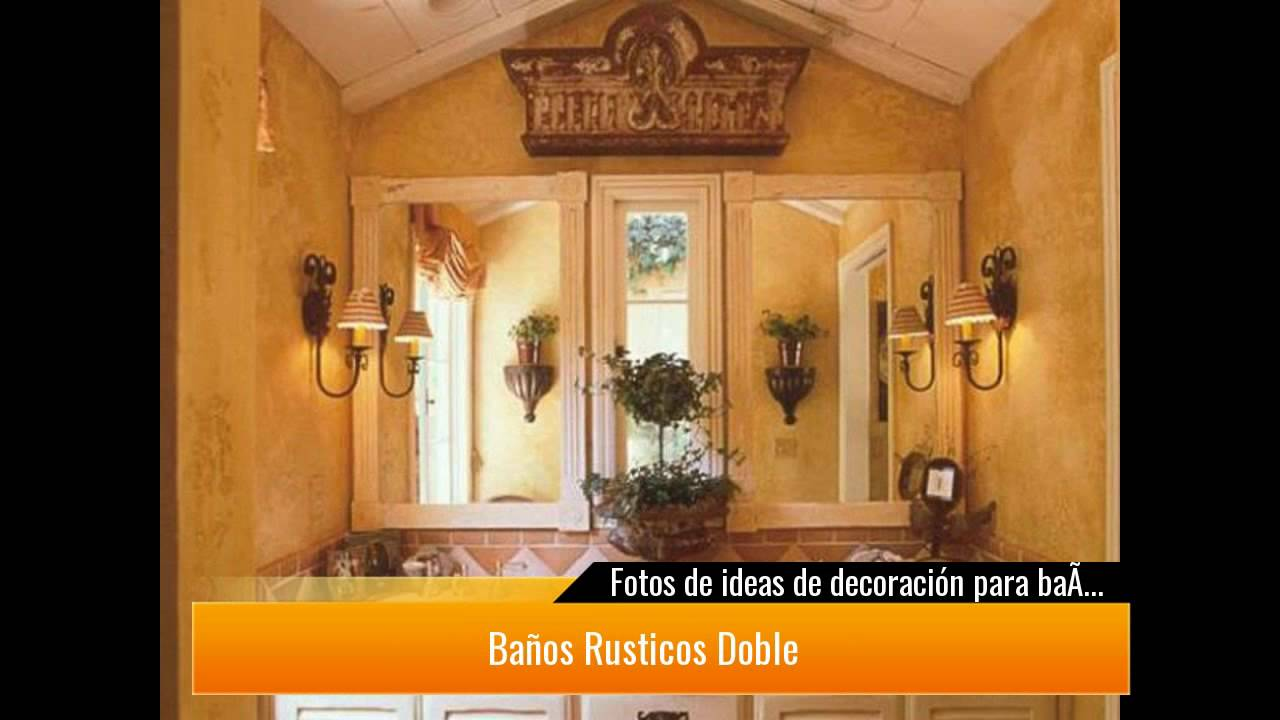 30 ideas de ba os r sticos c mo decorarlo youtube - Banos chicos ...