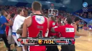 Perth Wildcats & Adelaide 36ers Post Game Scuffle - 14/2/2014