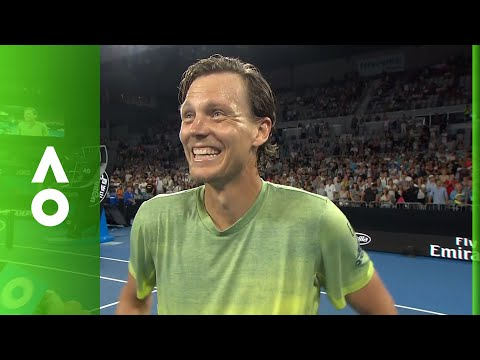 Tomas Berdych on court interview (3R) | Australian Open 2018