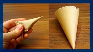 Papier Spritztüten selber machen - Spritzbeutel selber herstellen aus Papier - von Kuchenfee
