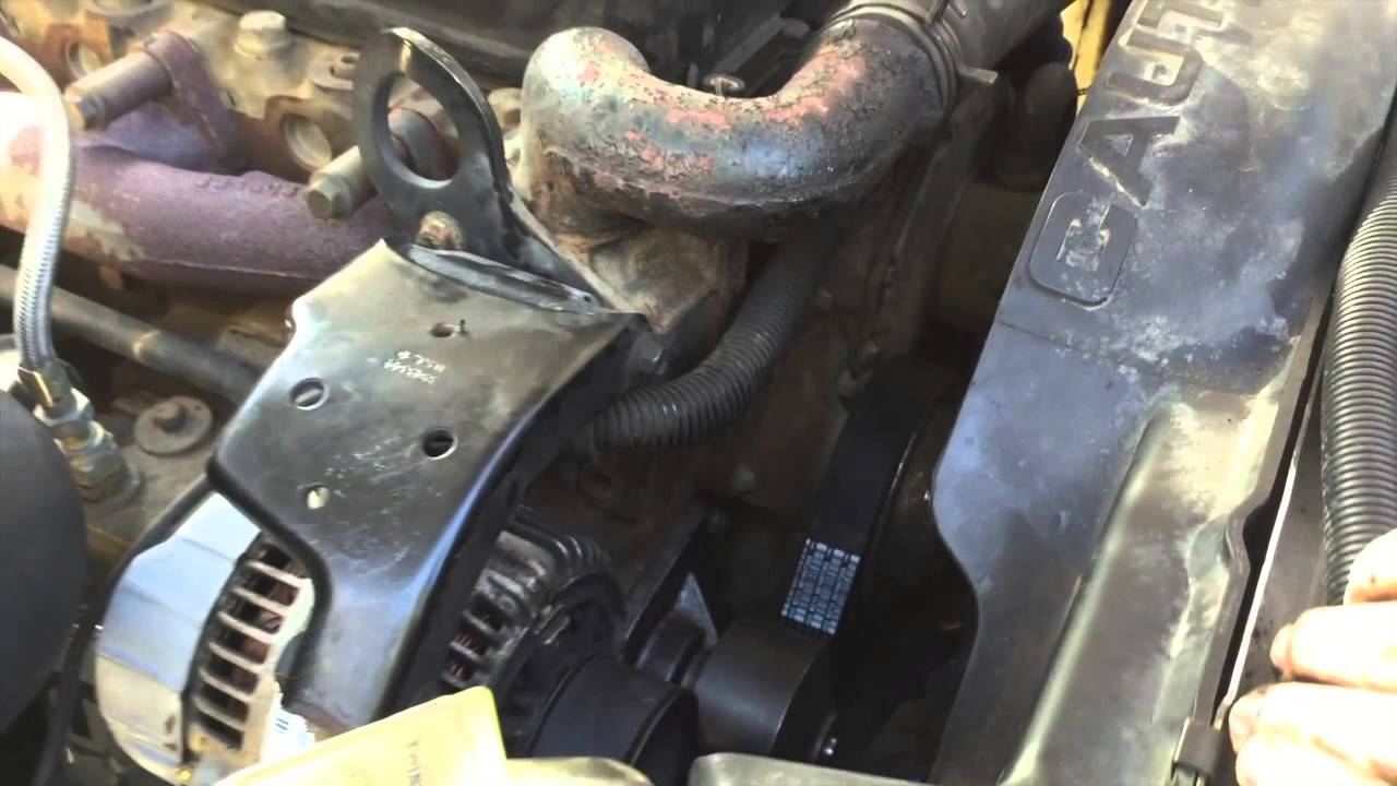 2000 Dodge 2500 5 9l Cummins Water Pump Thermostat Youtube
