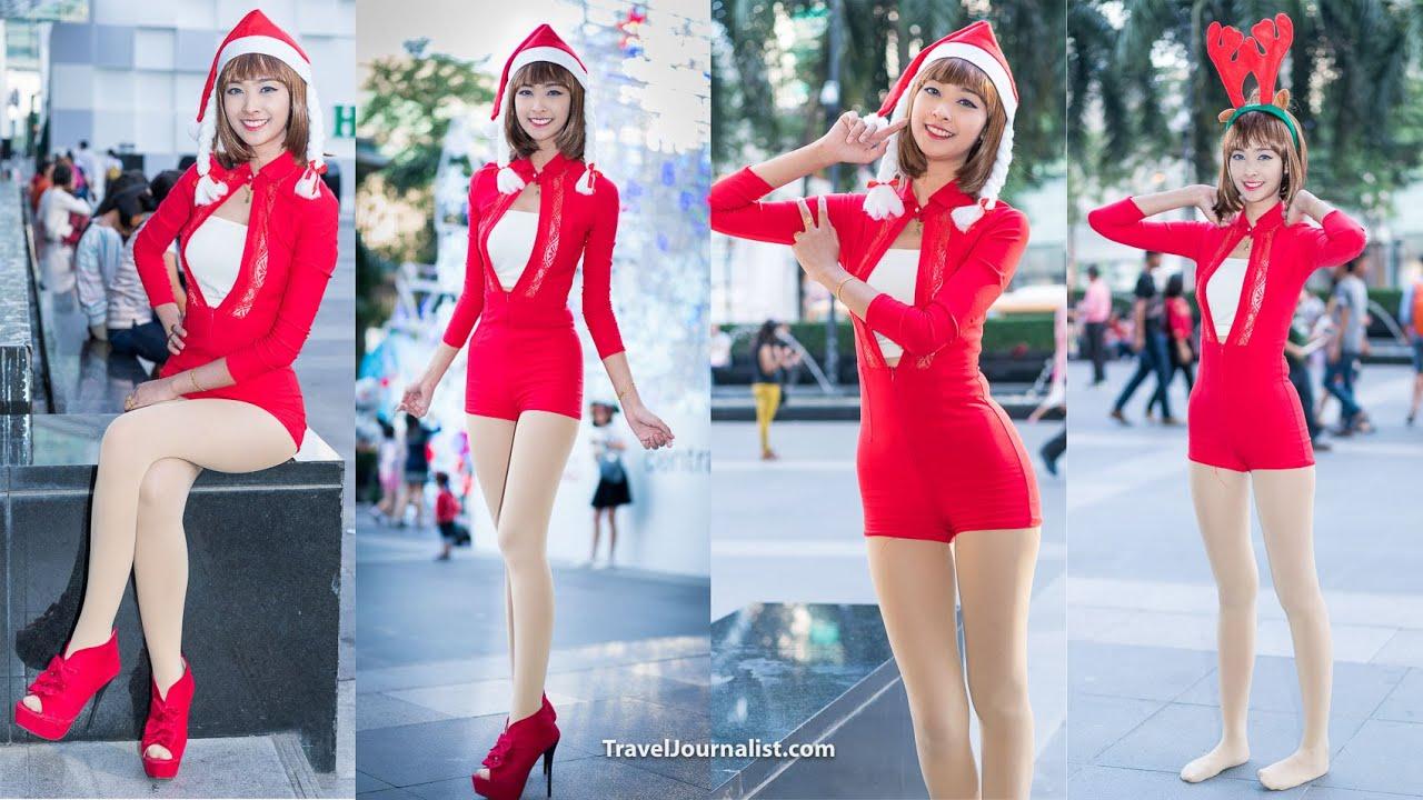 santa girls christmas amp new year decorations bangkok