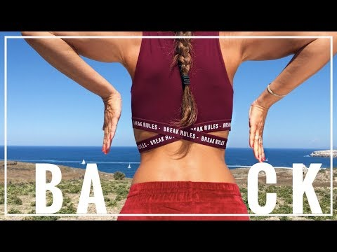 4 Best Exercises to Get Rid of Back Fat  | Back Toning Workout