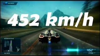 Maxima Velocidad 452 km/h |Need For Speed Most Wanted|