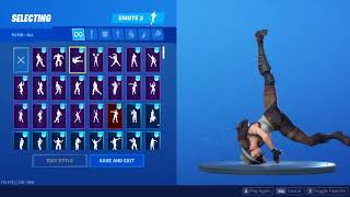 *NEW* RIO GRANDE SKIN SHOWCASED WITH 33 BEST DANCE EMOTES 😍❤️ Fortnite Shop Season X