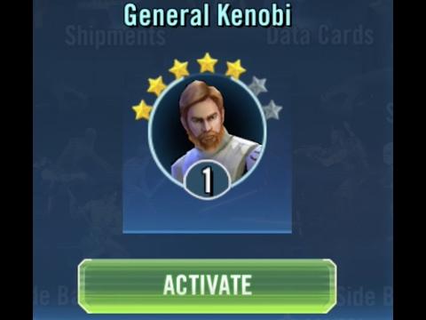 Activating General Kenobi :O SWGOH