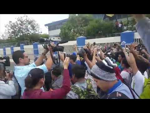 Estudiantes de UNI y Upoli protestan por reformas al INSS