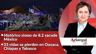Aristegui en Vivo 08 de Septiembre: todo sobre el sismo de 8.2 grados Ritcher que sacudió a México
