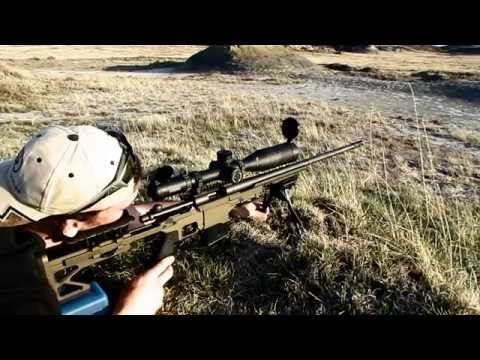 .243 Winchester @ 1,223 yards!  Huber Trigger, AWT Chassis, & Hornady 105 gr A-Max