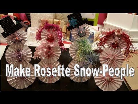 Rosette Snowmen & Women - Easy Holiday Craft!