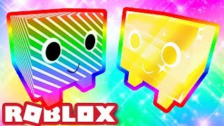 RAINBOW PETS! | RAINBOW CANDY CANE & GOLDEN RAINBOW! | Roblox Pet Simulator