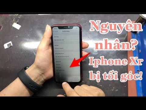Sửa Iphone Xr bị tối 1 góc màn hình   Fix corner dark screen on your Iphone Xr