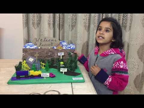 Show and Tell competition  on theme Family trip, Class KG,first prize winner