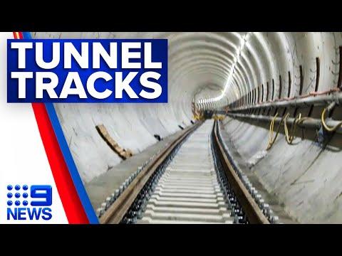 City & Southwest Metro tracks laid | 9 News Australia thumbnail