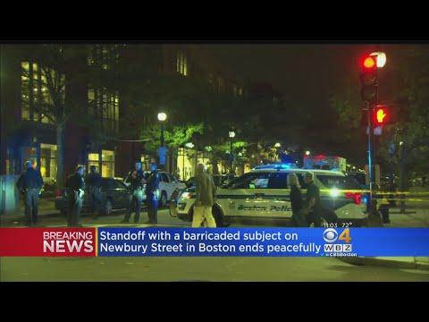 Standoff With Barricaded Subject On Newbury Street Ends Peacefully
