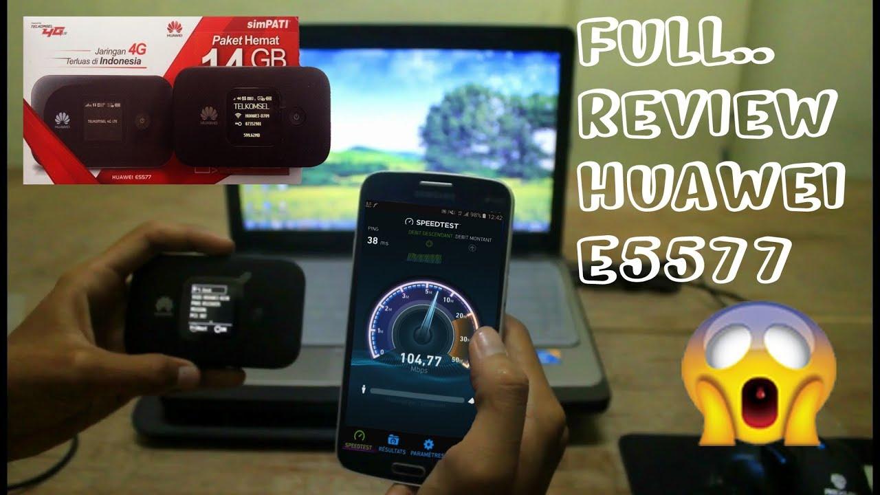 Riview Mifi Huawei E5577 Free Simpati 14gb Youtube 4g Tsel